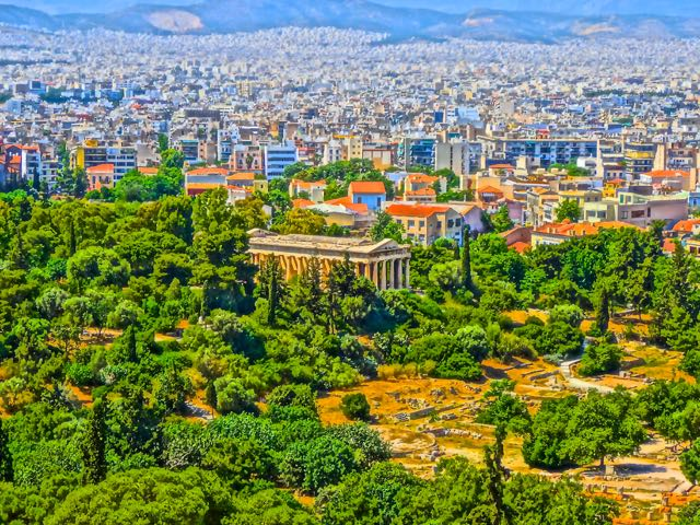 Athens Greece: Thission or temple of Haephestus
