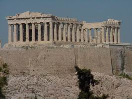 Athens Acropolis: Parthenon from Phillipapou