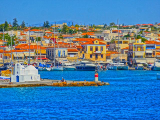 Harbor of Aegina, Greece