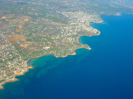Flight to Athens, Greece