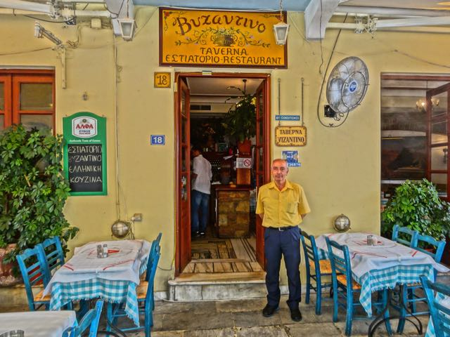 Byzantino restaurant in the Plaka, Athens