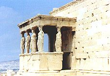 Caryatids, Acropolis, parthenon, Athens, archeology sites of Greece, ancient Greek sites