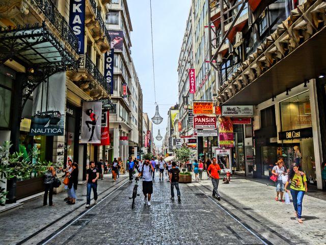 Ermou: Athens' Main Shopping Street
