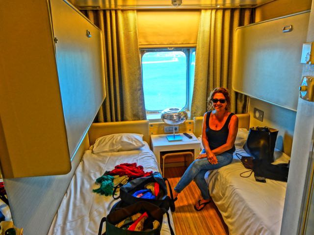Cabin on Greek ferry