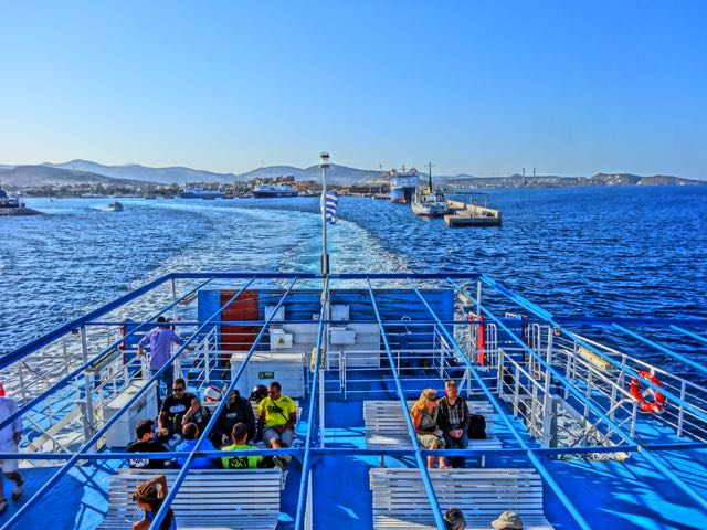 Ferry leaving Lavrion