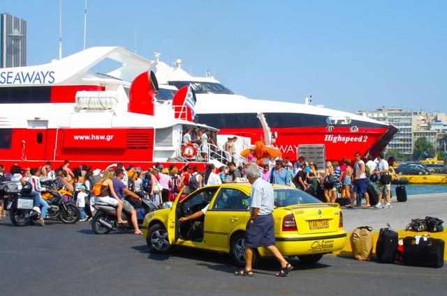 High speed ferries in Pireaus