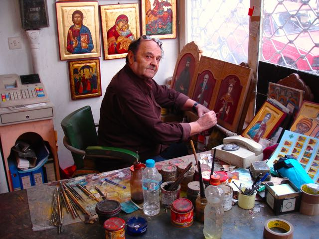 icon painter, Athens, Greece