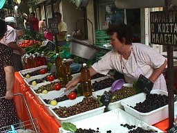 farmers market: olives