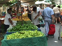 farmers market, peppers
