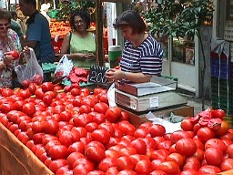farmers market: tomatoes