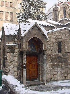 Athens, Greece: Byzantine Church of Kapni Karea on Ermou street