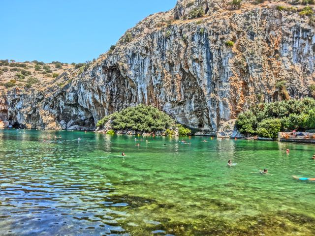 Athens, Greece: Lake Vouliagmeni Healing Spa