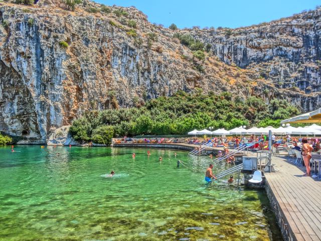 Athens, Greece: Lake Vouliagmeni Health Spa and Mineral Baths