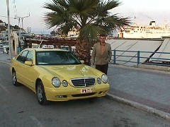George and his Mercedes Taxi in Athens, Greece