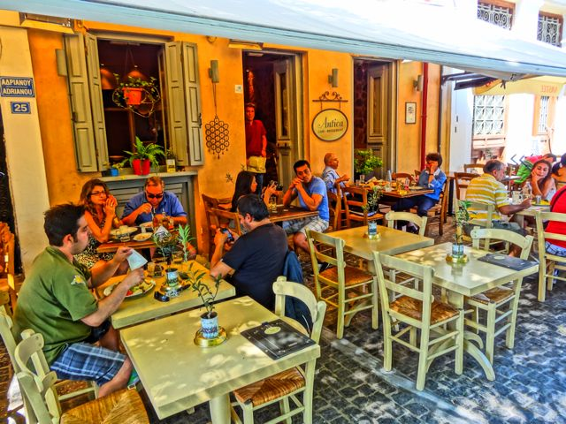 Cafe in Monastiraki, Athens