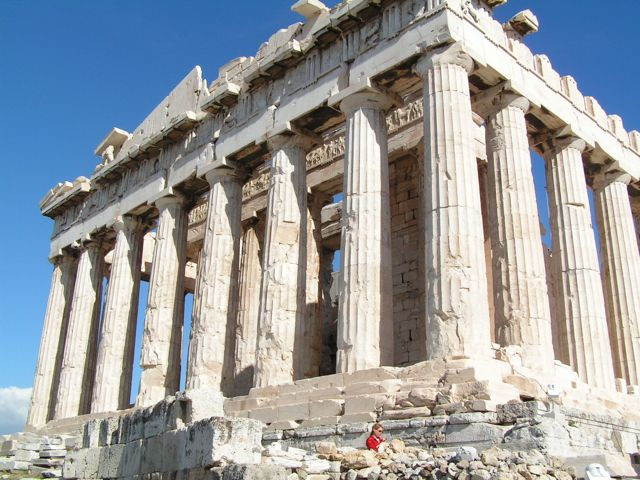 acropolis and parthenon difference