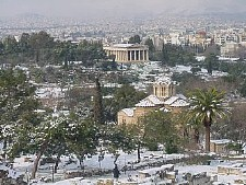 winter in Athens, Greece