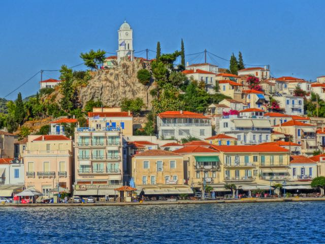 Poros Greece Map.Islands Near Athens