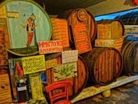 Wine Barrels in Greece