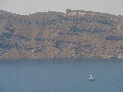 Sailboat in Santorini
