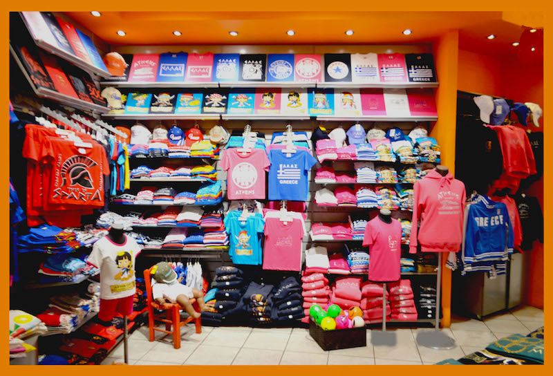 George dolkas t shirt shop in athens greece for Custom t shirt shop online