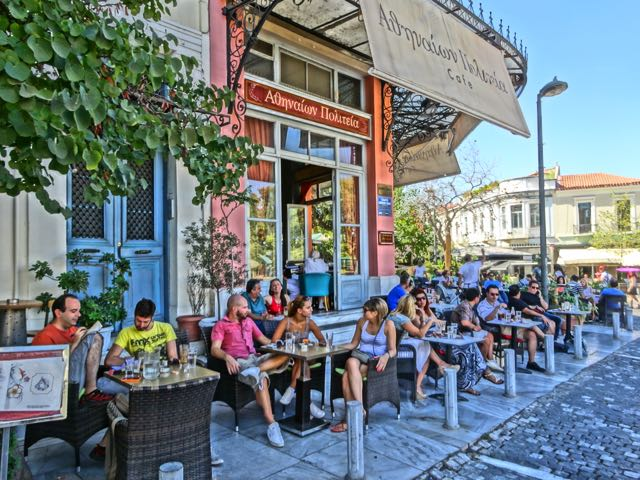 Cafe in Thission, Athens