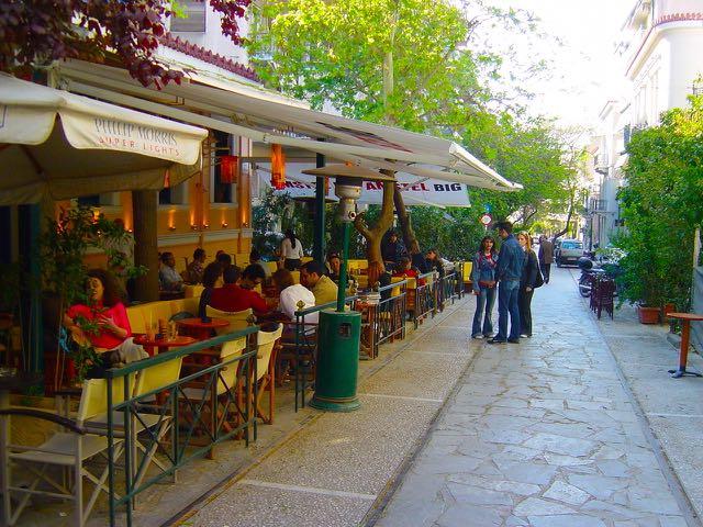 Irakleidon Street in Thission