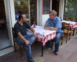 Rick Steves at To kati Alo taverna, athens