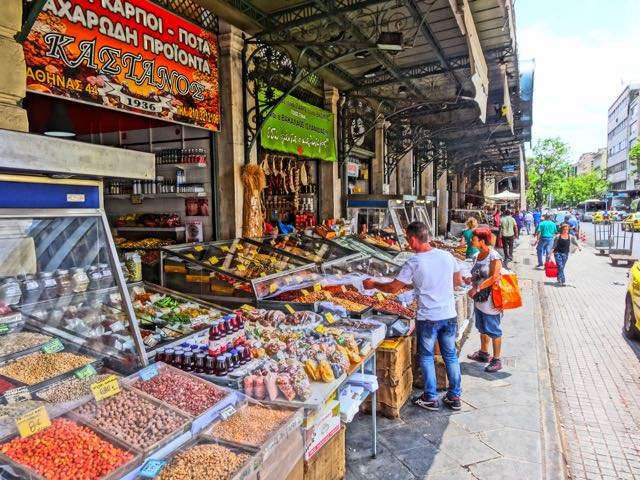 Shopping for food in Athens
