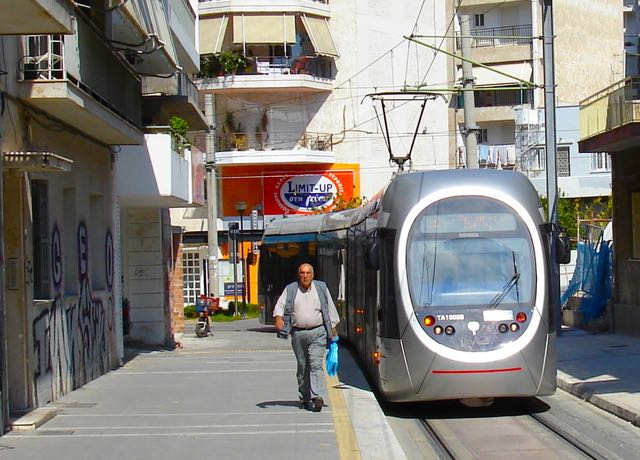 Athens tram to the beach
